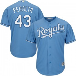 Kansas City Royals Wily Peralta Official Light Blue Authentic Men's Majestic Cool Base Alternate Player MLB Jersey